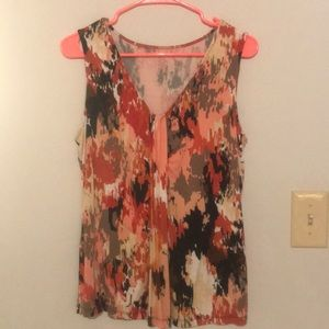 212 Collection Tummy Camouflage Draping Dressy Top